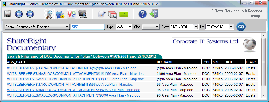 Document Search for 'Plan'